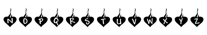 KR Burning Love Font LOWERCASE