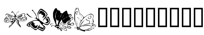 KR Butterflies Font UPPERCASE
