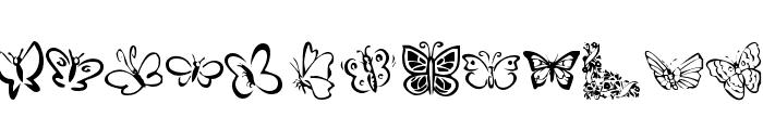 KR Butterflies Font LOWERCASE