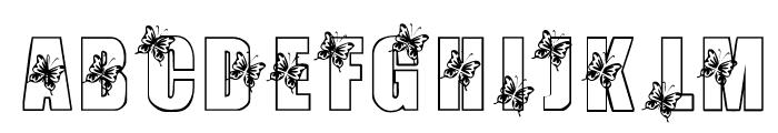 KR Butterfly 3 Font UPPERCASE