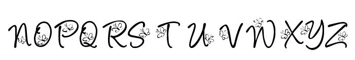 KR Butterfly Font UPPERCASE