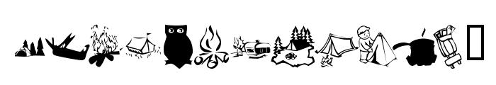 KR Camping Font UPPERCASE