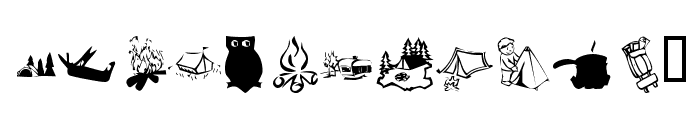 KR Camping Font LOWERCASE