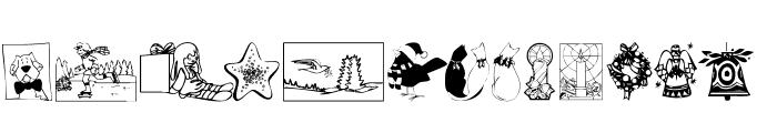 KR Christmas 2002 Dings 5 Font UPPERCASE