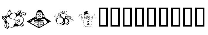 KR Christmas 2002 Dings 5 Font LOWERCASE