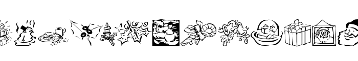 KR Christmas Dings 2004 Five Font UPPERCASE