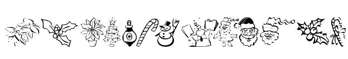 KR Christmas Dings 2004 Five Font LOWERCASE