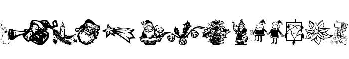 KR Christmas Dings 2004 Six Font UPPERCASE