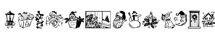 KR Christmas Dings 2004 Three Font UPPERCASE