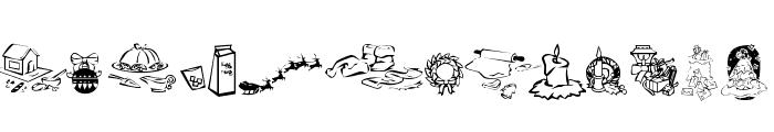 KR Christmas Dings 2004 Three Font LOWERCASE