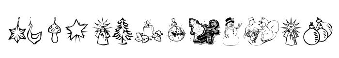KR Christmas Dings 2004 Two Font UPPERCASE