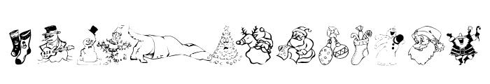 KR Christmas Dings 2004 Font UPPERCASE