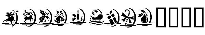 KR Christmas Dings One Font UPPERCASE