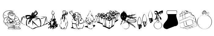 KR Christmas Jewels 2005 2 Font UPPERCASE