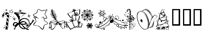 KR Christmas Jewels 2005 5 Font UPPERCASE