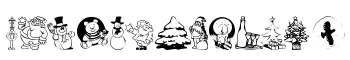 KR Christmas Jewels 2005 Font UPPERCASE