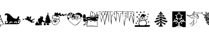 KR Christmas Time Font LOWERCASE