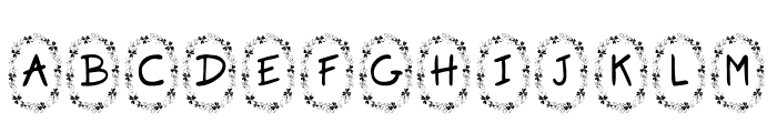 KR Clover Font UPPERCASE
