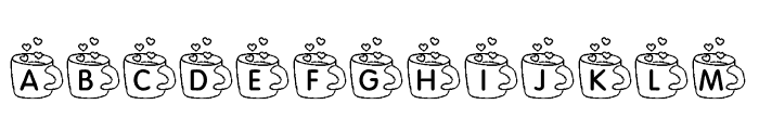 KR Coffee Love Font LOWERCASE