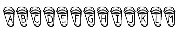 KR Coffee To Go Font UPPERCASE