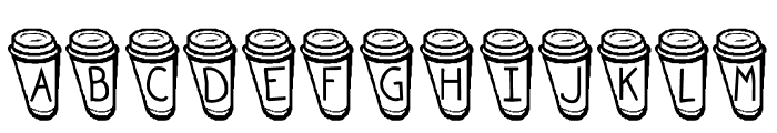 KR Coffee To Go Font LOWERCASE