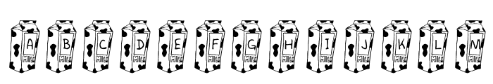 KR Cow Juice Font LOWERCASE