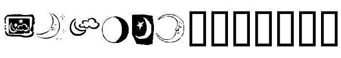 KR Crescent Moons Font UPPERCASE