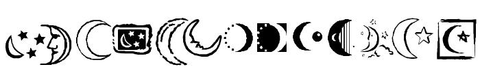 KR Crescent Moons Font LOWERCASE
