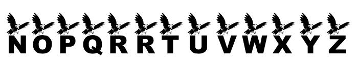 KR Crow Font UPPERCASE