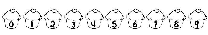 KR Cupcake Font OTHER CHARS