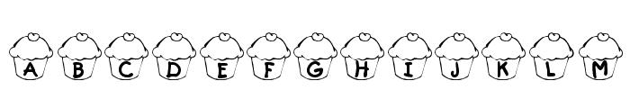 KR Cupcake Font UPPERCASE