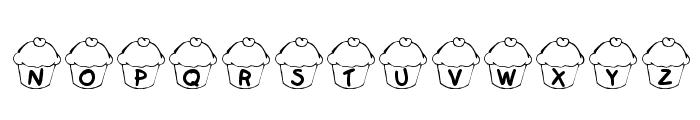 KR Cupcake Font LOWERCASE