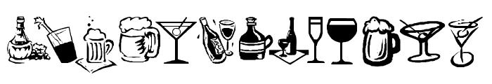 KR Drink Up! Font UPPERCASE