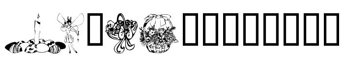 KR Easter 2002 Font UPPERCASE