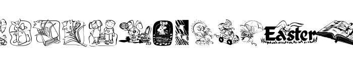 KR Easter 2003 Font UPPERCASE