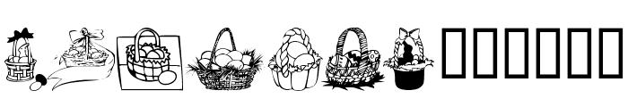 KR Easter Baskets Font UPPERCASE