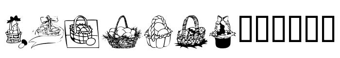 KR Easter Baskets Font LOWERCASE