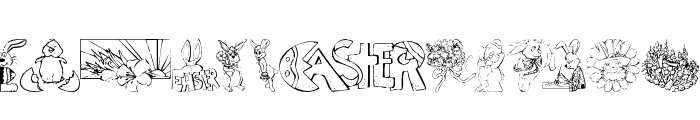 KR Easter No 2 Font UPPERCASE