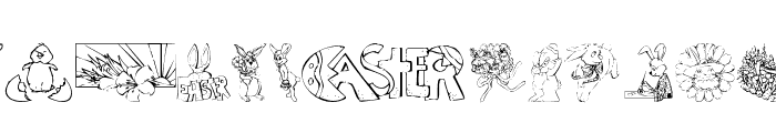 KR Easter No 2 Font LOWERCASE