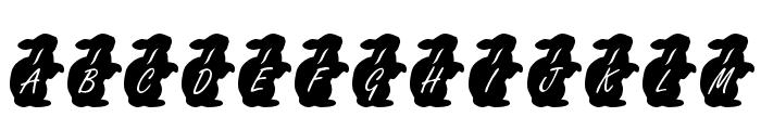 KR Easter Rabbit Font UPPERCASE