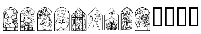 KR Easter Windows Font UPPERCASE
