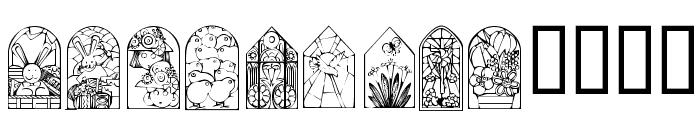 KR Easter Windows Font LOWERCASE