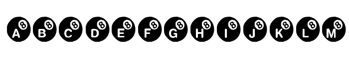 KR Eight Ball Font UPPERCASE
