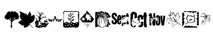 KR Fabulous Fall Font UPPERCASE