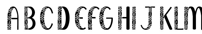 KR Filled With Flowers Font LOWERCASE