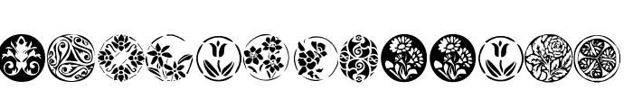 KR Fleurish Circle Font LOWERCASE