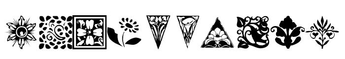 KR Fleurish Floral Font OTHER CHARS