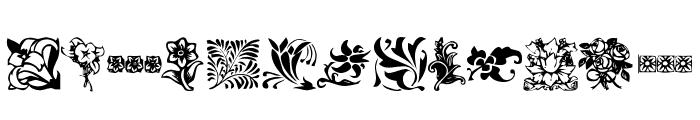 KR Fleurish Floral Font UPPERCASE