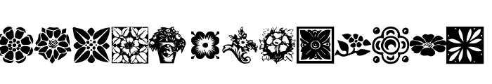 KR Fleurish Floral Font LOWERCASE