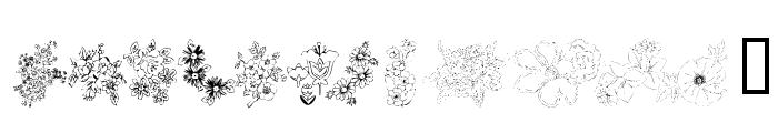 KR Floral Color Me 2 Font UPPERCASE